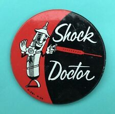 NOS 1956 Dealer Promo AC Delco SHOCK DOCTOR Pin, Excellent w/ Great Graphics!
