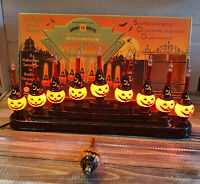 Shiny Brite Christopher Radko Halloween Bubble-Brite 9 Light Pumpkin Candolier