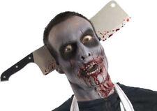 Morris Costumes Wood Handle Zombies Cleaver Thru Head Scary Costume Mask. RU3726