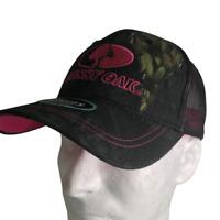 Mossy Oak Women's Black Camo/Pink Adjustable Hat Cap