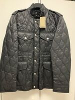Burberry Men's Garrington Quilted Field Jacket. Black. XL. Brand New with Tags
