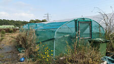 polytunnel frame,3 bays, mesh cover and doors