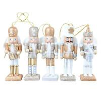 5pcs/Set Wooden Nutcracker Dolls Toys Kids Bedroom Christmas Decor Ornament SS6
