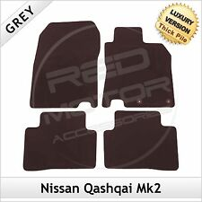 NISSAN QASHQAI Mk2 2014 onwards Tailored Carpet LUXURY 1300g Car Floor Mats GREY