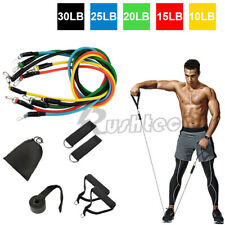 11 / 5 PCS Resistance Band Set Yoga Pilates Exercise Fitness Tube Workout Bands