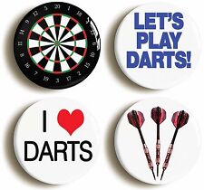 DARTS PLAYER BADGE BUTTON PIN GIFT SET (Size is 1inch/25mm diameter)