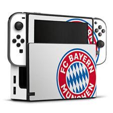 Nintendo Switch Folie Aufkleber Skin - großes FC Bayern München Logo Weiß
