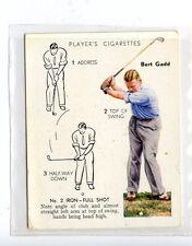 (Jc6445-100)  PLAYERS C.I.ISSUE,GOLF,BERT GADD,NO 2 IRON-FULL SHOT,1939,#16