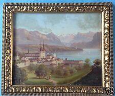 Ölgemälde Vedute Ansicht Luzern Vierwaldstättersee Johann Wilhelm Jankowsky~1850