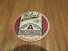 GIBA'S DAIRY BUFFALO N.Y. MILK BOTTLE CAP