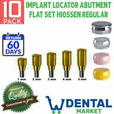 X 10 Implant Locator Abutment Flat Set Hiossen Regular