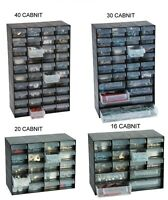 Multi Drawer Cabinet Plastic Jewelry Storage Unit for Home Office Garage
