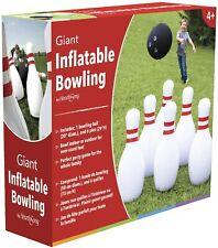 Giant Inflatable Bowling Set Jumbo Kids Toddler Games Indoor Outdoor Garden Lawn
