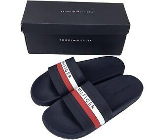 Tommy Hilfiger Men's Riker Pool Slide Sandals Navy Blue Slip On size 10 & 11 NEW