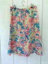 Christopher & Banks Womens Linen Blend Skirt Drawstring Waist S