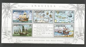 Anguilla 1973 Columbus Discovers West Indies Miniature Sheet SG MS 164 M/Mint