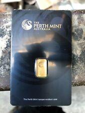 Perth Mint 1g Gram Gold Minted Bullion Bar