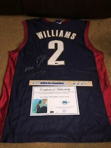 MAURICE MO WILLIAMS CAVALIERS SIGNED AUTOGRAPHED NEW BASKETBALL JERSEY-PROOF COA