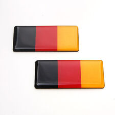 2 Pcs Car Germany German Flag Resin Fender Emblem Sticker For Mk3 A4 Hood Trunk