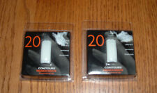 2 Packages Of Contours French White Nail Tips - 20 Assorted Tips In Each Pkg