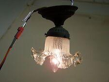 Belle Vieille Lampe Art Nouveau, Lampe Suspendue En Verre