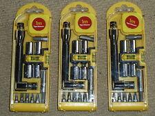 3 x 15 pezzi Set di utensili Compatto Cacciavite Socket Bit Kit di livello Nastro Nuovo di zecca!