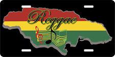 JAMAICA MAP REGGAE MUSIC LICENSE PLATE