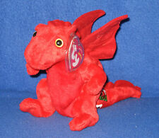 ORIGINAL VERSION TY Y DDRAIG GOCH the DRAGON BEANIE BABY - UK EXCLUSIVE with TAG