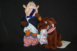 President Bull Clinton Buddy The Dog NWT Infamous Meanies Plush Toy Lovey