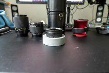 "Tokina AT-X 90mm F/2.5 Macro ""Bokina"" Lens Minolta MD Complete + E-mount adapter"