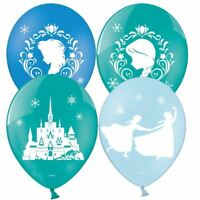 "6pk Disney Frozen Latex 11"" Balloons 6pk Anna Elsa Birthday Party Decorations"