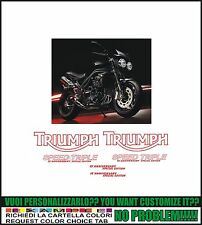 kit adesivi stickers compatibili triumph speed triple 15 anniversary s. edition
