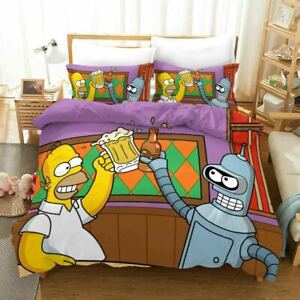 Cartoon The Simpsons 3D Bedding Duvet/Quilt/Doona Cover Sets Pillowcase Anime I