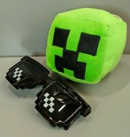 Minecraft Plush Stuffed Creeper Head with Free Sunglasses New