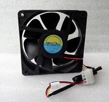 NEW Masscool 120mm x 38mm High Airflow Fan 107 CFM 3 Pin/4 Pin w/ Speed Control