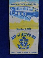 BIT OF SWEDAN OF HOOLYWOOD SUNSET BLVD CA VIKING TERRACE 30 STICK LION MATCHBOOK