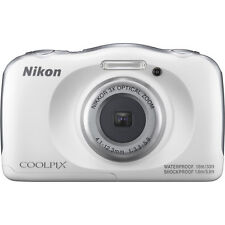 Nikon COOLPIX W100 13.2MP Digital Camera, Water/Shock/Freeze & Dustproof - White