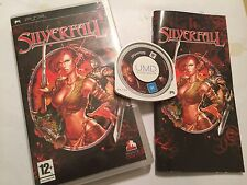 SONY PSP PORTABLE PLAYSTATION GAME SILVERFALL + box & Instructions Complètes