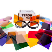 Large set of filters and holders for flashes Strobe Light Photography