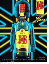 PUBLICITE ADVERTISING 086  2012  whisky J & B  crazy colors so British  3