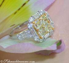 Echte Diamanten-Ringe aus Gelbgold mit Baguette