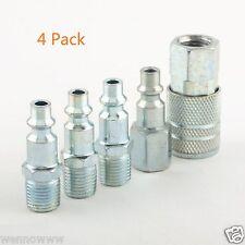 ( 4 Pack ) - Coupler Quick Connect Coupler Set Air Compressor Hose - Zinc