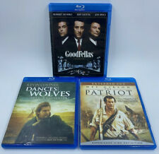 Goodfellas Dances With Wolves The Patriot Epic Action Movie Lot Of 3 Blu Ray