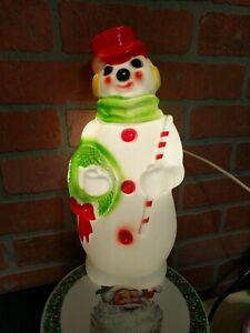 Vintage Christmas 1968 Snowman Blow Mold Retro Kitschmas Decorations