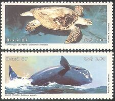 Brazil 1987 Hawksbill Turtle/Right Whale/Marine/Nature/Conservation 2v (n25661)