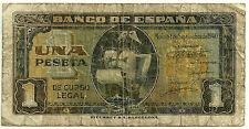 BILLETE DE 1 PESETA DE 1940 (RC) SANTA MARIA (SERIE C) DESGASTE