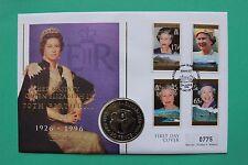 1996 Elizabeth II 70th Falkland Islands Cover 50p Crown & Stamps SNo43245