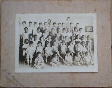 Cuba/Cuban 1930s School/Class Photograph w/Black Students, Original on Board