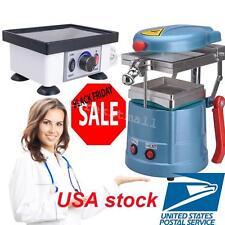 US Dental Vacuum former Forming molding Machine W/ Vibrator Vibrating Oscillator