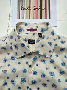 Paul Smith Men's Shirt - FLORAL PRINT - Size L  -16 inch collar- Cost about £200